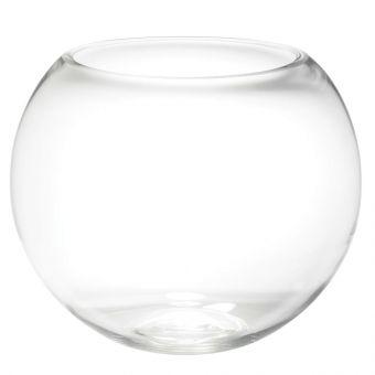 Glass Fishbowl Handmade - Clear - 30cm