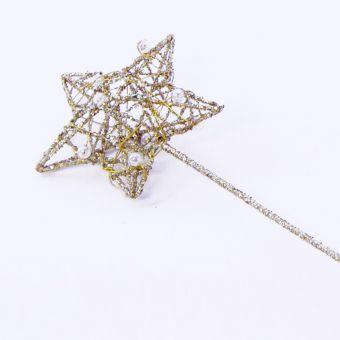 Star Wand - Gold - 8cm x 30cm