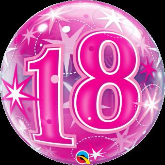 Pink 18 Starburst Balloon