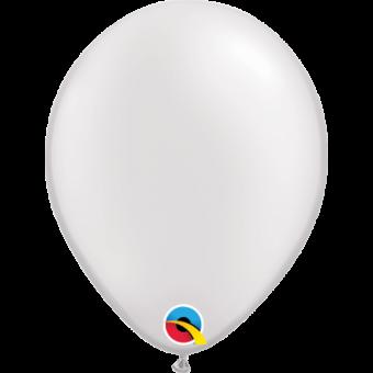 "Plain Pearl White 5"" Balloon"
