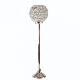 Globe Crystal Candle Holder - Silver - 80cm