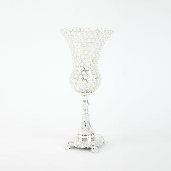 Crystal Olympus Vase Silver - 22cm x 22cm x 48cm