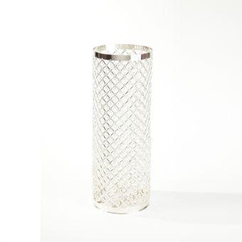 Silver & Crystal Column - 61cm x 24cm