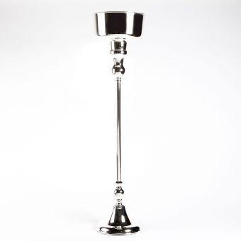 Pedestal Bowl - Silver (Lined) - 27cm x 27cm x 110cm