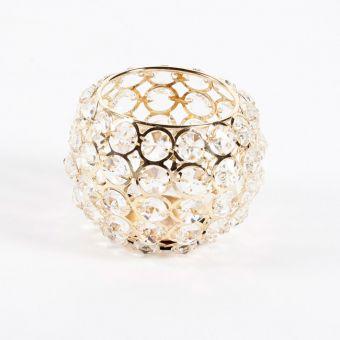 Crystal Bowl - Gold - 11cm x 11cm x 11cm