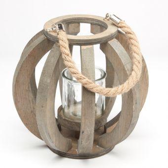 Cutty Sark Lantern - Grey Wash - 18.5cm x 16.5cm