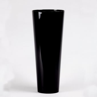 Acrylic Conical Vase - Black - 45cm