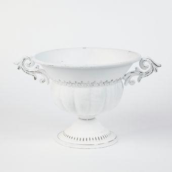 Konya Urn Chipped White 45x27cm