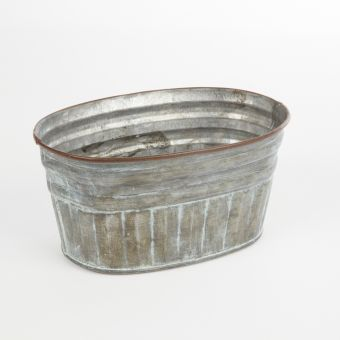 Mia Tin Lined Lined Trough - 18cm