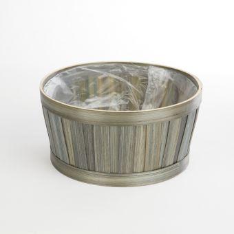 Maddison Lined Olive Green Bowl - 23.5cm