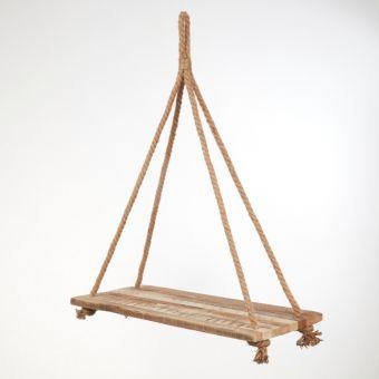 Hanging Wooden Shelf - 82 x 28cm