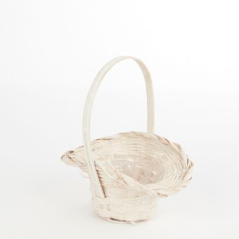 Bridesmaids Lined White Basket - 18.5cm