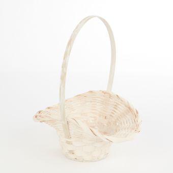 Bridesmaids Lined White Basket - 23.5cm