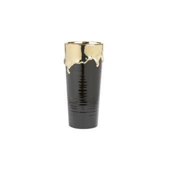Abajo Vase Black & Gold 30cm