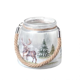 Stag Votive with Handle 12cm