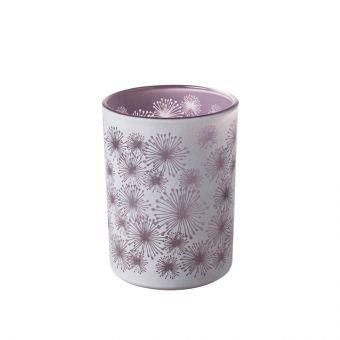 Allium Lilac Glass Votive 12.5cm