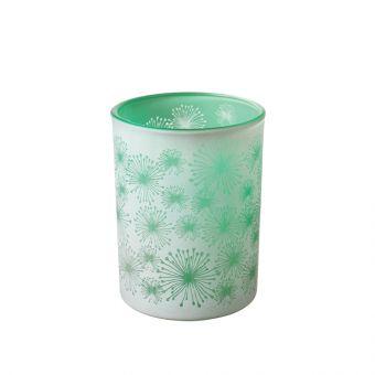 Allium Green Glass Votive 12.5cm