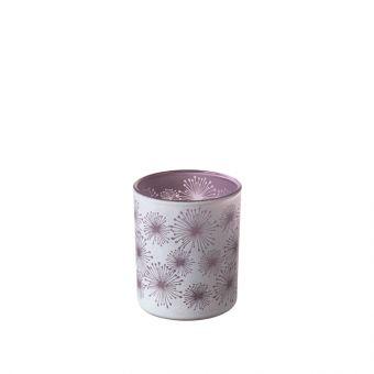 Allium Lilac Glass Votive 8cm