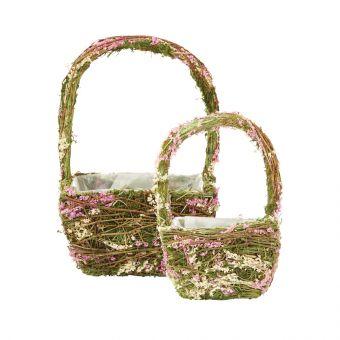 Square Arya Mossed Lined Basket (Set of 2)