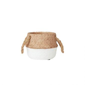 Cebu White Ceramic Pot 12.5cm