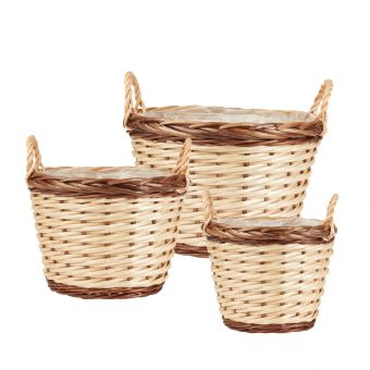 Ansoo Willow Baskets - Round (Set of 3)