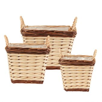 Ansoo Willow Baskets - Square (Set of 3)
