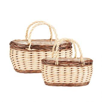 Hanna Willow Baskets - Shopper (Set of 2)