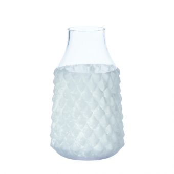 Hamun Vase - Frosted/Clear - 30cm