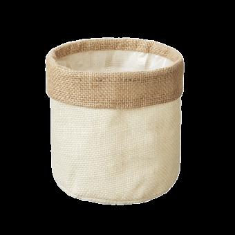 Hessian Lined Bag - Cream - 13cm