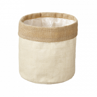 Hessian Lined Bag - Cream - 15cm