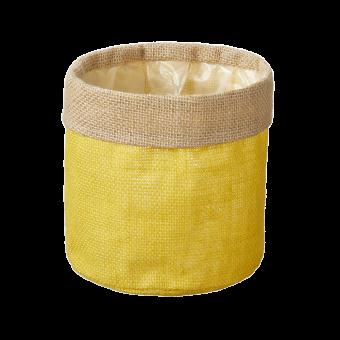 Hessian Lined Bag - Yellow - 15cm