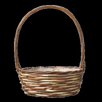 Lincoln Handled Lined Basket - H:38 x Ø:30cm