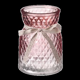 Emily Glass Vase - 13.5cm - Pink