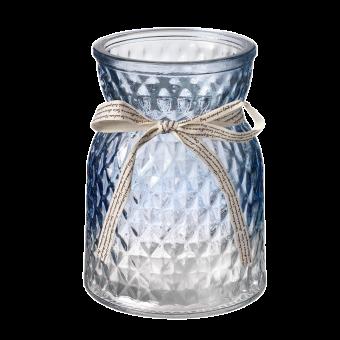 Emily Glass Vase - 13.5cm - Blue