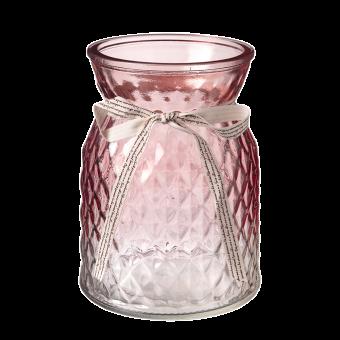 Emily Glass Vase - 16cm - Pink