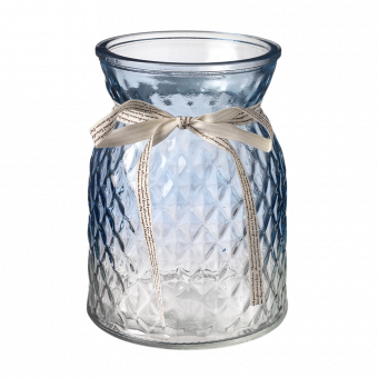 Emily Glass Vase - 16cm - Blue