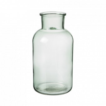 Hailey Glass Jar - 20cm - Recycled Green