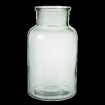 Hailey Glass Jar - 26cm - Recycled Green