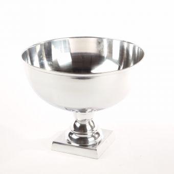 Round Aluminium Bowl Silver - 31 x 38cm