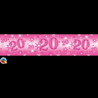 Pink Foil 20 Banner