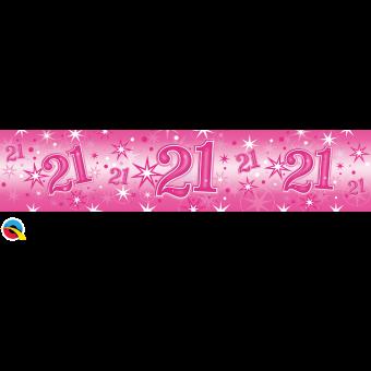 Pink Foil 21 Banner