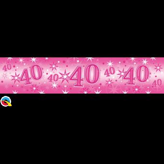 Pink Foil 40 Banner