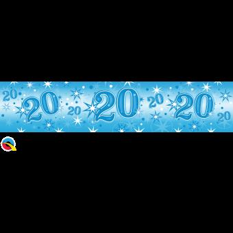 Blue Foil 20 Banner