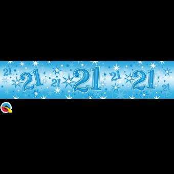 Blue Foil 21 Banner
