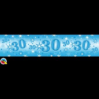 Blue Foil 30 Banner