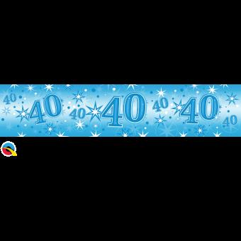 Blue Foil 40 Banner