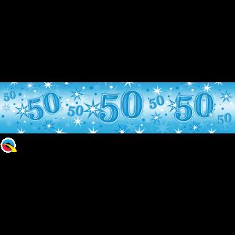 Blue Foil 50 Banner