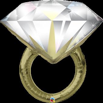 Diamond Engagement Ring Balloon