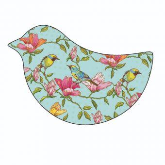 Vintage Bird Pattern on Blue background (Pack of 12)