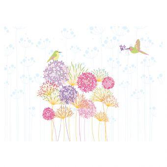 Multicoloured Alliums & Birds - Large (Pack of 25)